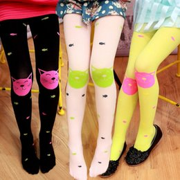 Wholesale New baby girls leggings lovely candy color cat fish pattern leggings cm colors for choose