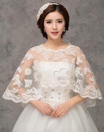 Wholesale High Quality Bridal Bolero Jacket Lace Cloak Capes Applique for Wedding Dresses Lace Wrap Bridal Accessories Four Designs