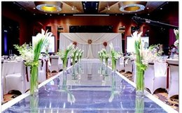 Wholesale Romantic Wedding Party Decoration M wide mirror carpet Wedding Carpet M