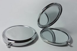 Wholesale Promotion Price New cosmetic pocket mirror makeup blank compact mirror DROP SHIPPING