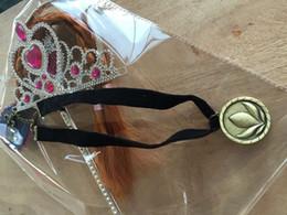 ожерелье 200шт Замороженный Anna для детей косплей ожерелье Замороженный Anna Coronate платье Украшение ожерелье сплава заморозка