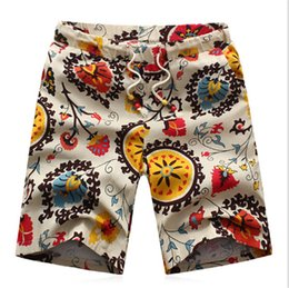 Wholesale Classic Flower Print Mens Surf Shorts Beach Summer Style Drawstring Surf Bermuda Masculina Pockts Short Men Casual Gym Boardshorts
