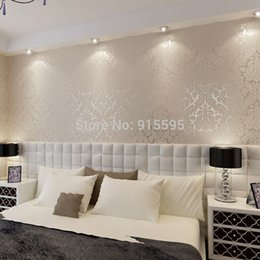 3d Gold Silver Living Room Wallcovering European Luxury Damask Wall Paper Pvc Embossed Textured Wallpaper Roll Home Decor Discount Gold Damask Wallpaper