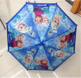 Wholesale frozen elsa and anna umbrella Children s Rain Gear Children s cartoon creative umbrella