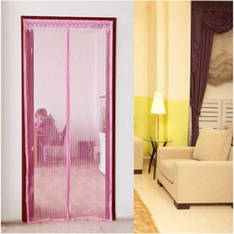 Wholesale-New Portable Anti Mesh Insect Fly Bug Mosquito Door Curtain Net Netting Mesh Screen Magnet HL #60835 & Portable Screen Doors Online | Portable Screen Doors for Sale Pezcame.Com
