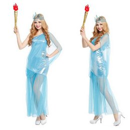 Wholesale Woman Men Greek Goddess Lady Liberty Zeus Roman Soldiers Cosplay Costume Party Fancy Dress Hallowmas Carnival Funny Birthday Supplies Gift