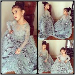 Discount Vintage Lace Dresses For Little Girls  2017 Vintage Lace ...