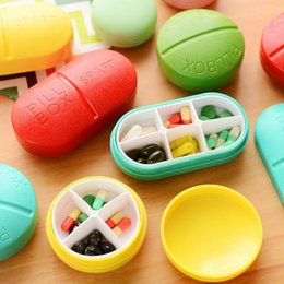 Wholesale Candy Solid Cute Portable Pill Medicine Travel Outdoor Case Storage Splitters Box Jewelry Display Cosmetic Makeup Organizer
