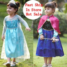 Wholesale in store fall Frozen fantasy anna elsa princess queen halloween christmas kids clothes cute toddler clothes party bady girls tutu dress