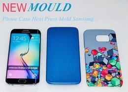 2017 heat sublimation paper 3D Sublimation Heat Transfer Machines Alluminium Phone Cases Mould For iPhone 6s plus Samsung S6 S6 edge edge+ S7 S7edge Note5 LG G5