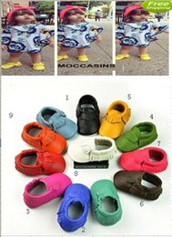 Wholesale 18 OFFlowest price Multy Color Baby Prewalker Real Leather Ruffles Shoes Toddler Infants Kids Boys Moccasin First Walker3 pairs QC
