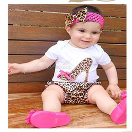 Wholesale 2016 NEW pieces hair band One Piece Romp shorts clothing Birthday baby Kids girls s Baby clothes Outifits sets suit suits