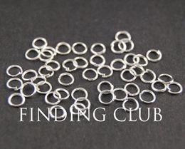 500 pièces 4mm 5mm 6mm plaqué argent ouvert Jumprings Saut anneaux - split anneaux Bricolage fournitures bijoux accessoires