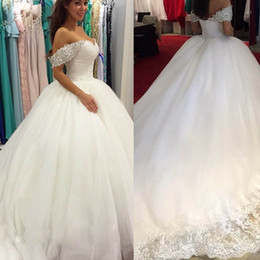 2015 new designer short sleeve wedding dresses ball gown garden princess ball gown ruched beaded crystal chapel train organza bridal gowns cheap portrait