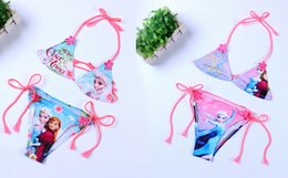 Wholesale Frozen Baby Girls Bikinis Swimsuit Swimwear Children Bathing Suits For Kids Swim Clothing