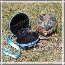 Wholesale Multifunction EVA Round Storage Bag Earphone Earbud Carring Case Pouch zipper case with camo color for USB line cable coin SD TF card
