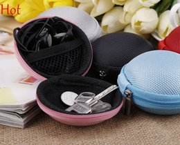 Wholesale 2015 Headphone Case Earphone Headset Carry Case Pouch Small Data line Storage Bags Portable Purse Canvas Bag Coin Key Case Mini Hot SV014855