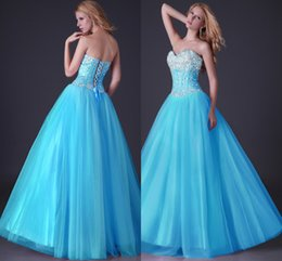 Wholesale 2014 Winter Sweetheart Quinceanera Dresses Sweet Beading Crystals Floor Length Tulle Ball Gown Special Occasion Dress Custom Made GL504