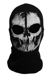 Wholesale 9 models men New call of duty X Ghosts Mask DHL shipping Outdoor Hat Cycling Bike Motorcycle Windproof Mask CS Game Face Cosplay Mask