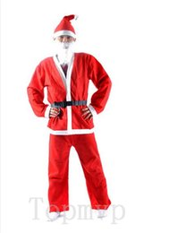 Wholesale christmas costumes santa claus S M L XL XXL adult clothing velvet thicken xmas costumes outfits C005