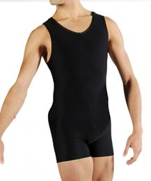 Wholesale High quality cotton made clothes for ballet dance body fit ballet coverall for men gymnastics leotard ballet leotards for men