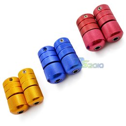 Wholesale 3 quot mm Self lock Aluminum Tattoo Machine Grip Back Stem with Tube Red Gold Blue