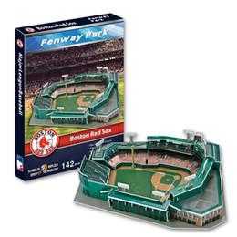 2017 boston home 3D Puzzle Stadium Model MajorLeagueBaseball MLB Boston Red Sox home baseball field Fenway Stadium Paper Model Toys Decoration cheap boston home