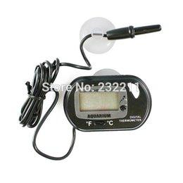 Wholesale LCD Digital Sensor Thermometer Temperature Measurement Wired Aquarium Fish Tank P4PM