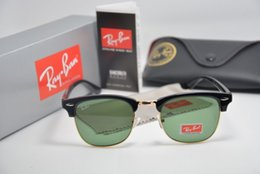 Wholesale Ray LOGO RB Designer Sun Glasses Green Lens Retro Clubmaster Sunglasses For Women Men With Original Case