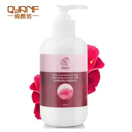 Wholesale QYANF Rose Extract Body Lotion Body Cream Whitening Moisturizing Stretch Marks Remover Treatment Ageless Wrinkle Cream Beauty