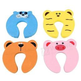 Wholesale Set Baby Kids Safety Lock Animal Door Stop Pinch Guard Brandnew IN
