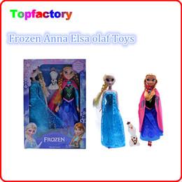 Бесплатная доставка DHL Замороженные Анна Эльза Олаф Игрушки Принцесса куклы 11-дюймовый приятный подарок для детей девочек 2 игрушки в одной упаковке для рождественских подарков