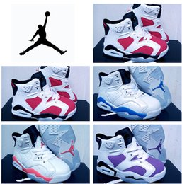 Wholesale Discount Nike Air Jordan Shoes Kids Retros VI Basketball Shoe Children s Athletic Shoes Boys Sports Sneakers Child Running Shoe