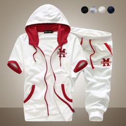 Wholesale 2015 summer new Fashion men s casual sportswear sports suit tracksuit sweat suits short sleeve men s clothes