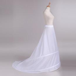 Wholesale Aro de la enagua nupcial de la boda de la sirena de la crinolina de las faldas de la cintura elástico muelles para los vestidos nupciales Bullicio Debajo de barrer de tren