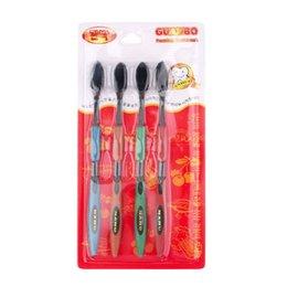 Wholesale retail drop Korea nano bamboo Anion Charcoal health dual adult toothbrush high quality pack YKS