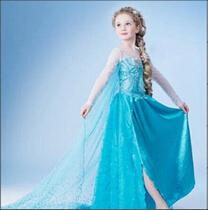 Wholesale Kids Clothes Romance Princess Baby Girls Dress Cartoon Movie Cosplay Fever Elsa Dresses Costume Children Clothing for Girl Party