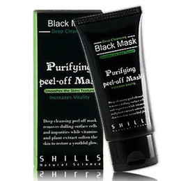 Wholesale 1PCS Hot Selling SHILLS Deep Cleansing purifying peel off Black mud Facail face mask Remove blackhead facial mask Smooth Skin Shills Masks