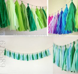 Wholesale 10Packs pieces inch Tissue Paper Tassels Garland DIY Wedding Event Birthday Party Decoration Product Supply Wholesales
