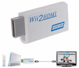 online shopping Retail White For Wii to HDMI Wii2HDMI Adapter Converter Support P mm Audio Video Output Hot Sale