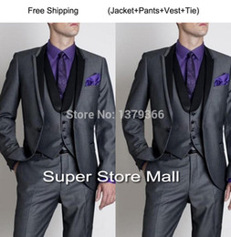 Black Suit With Purple | My Dress Tip