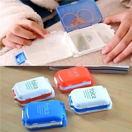 Wholesale New Arrival Candy Color Weekly Sort Folding Vitamin Medicine Pill Box Makeup Storage Case Container