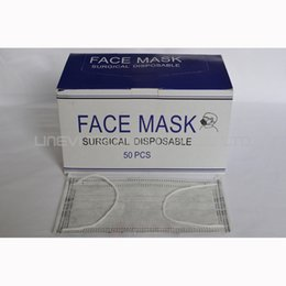 Wholesale 50pcs Disposable Active Carbon Face Mask Made of Non woven Material Safety Activated Carbon anti formal dehyde PM2 professional Mask