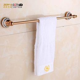 ze faction rose gold towel bar towel hanging antique european single shot full copper towel rack bathroom accessories
