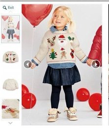 Wholesale 2015 Winter Knit Sweaters Baby girls white crochet knitted Jumper children s pullover tops