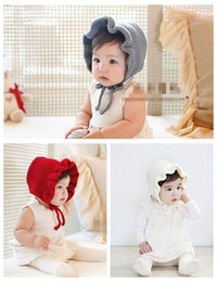 baby Classic weaving Warm Soft Knitted flounced wool hat Hot Winter Warm princess Hats Fleece Hood cute Unique Deisgn Warmer cap MZ9108 from soft baby wool manufacturers