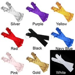 Wholesale Women Candy Color Long Gloves Hot Selling Fashion New Arrival Evening Mittens For Females Neon Ladies Satin Glove Fir Girls