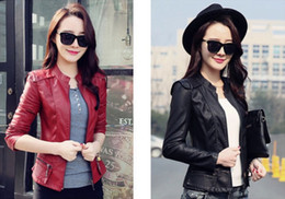 Red Leather Motorcycle Jacket Women Online | Red Leather ...