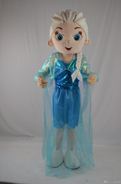 Wholesale Christmas NEW frozen elsa princess Mascot Cartoon Costume Character Customize Adult fancy dress party