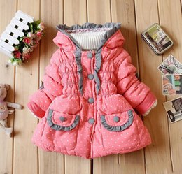 Wholesale Autumn and winter New product Children s clothing Girls Lace small love coat Fashion baby Keep warm Cotton padded clothes